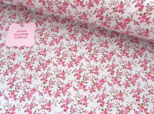 Lottie Mini Floral on Ivory 100% Cotton