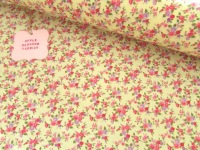 Lottie Mini Floral on Lemon 100% Cotton