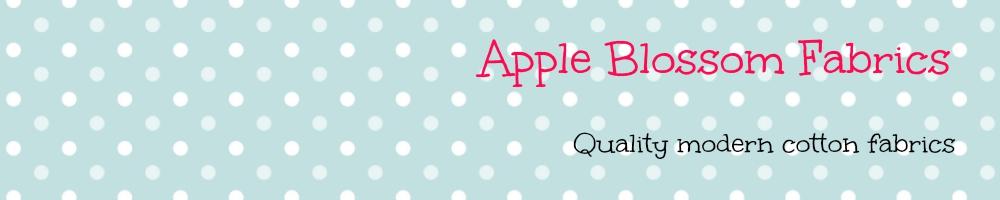 Apple Blossom Fabrics, site logo.