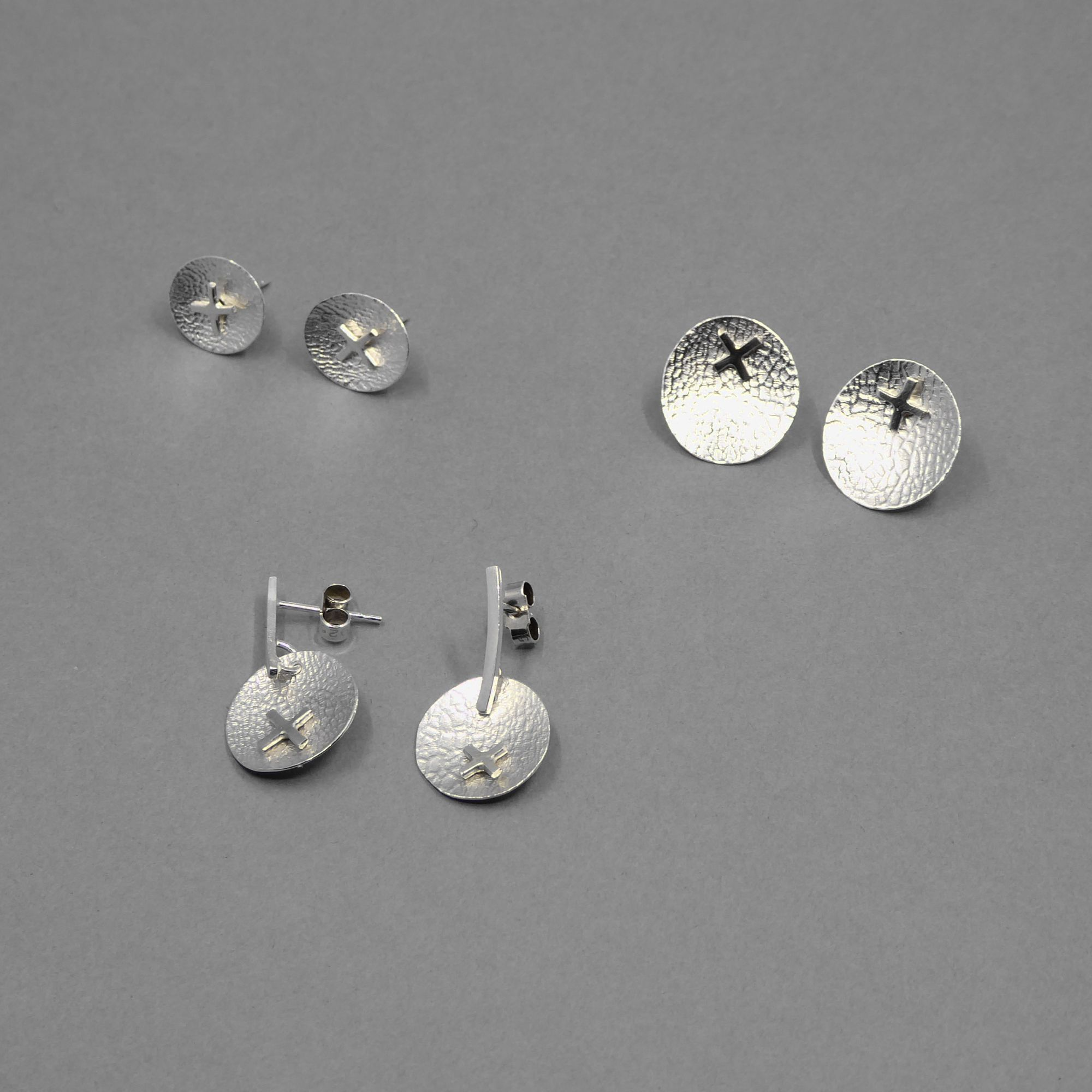 Silver print drops with 14ct gold filled  and detachble citrine