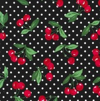 Michael Miller CHERRY DOT Fabric - Black
