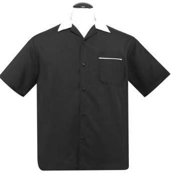 Steady Clothing Custom Bowler Button Up Shirt - Black
