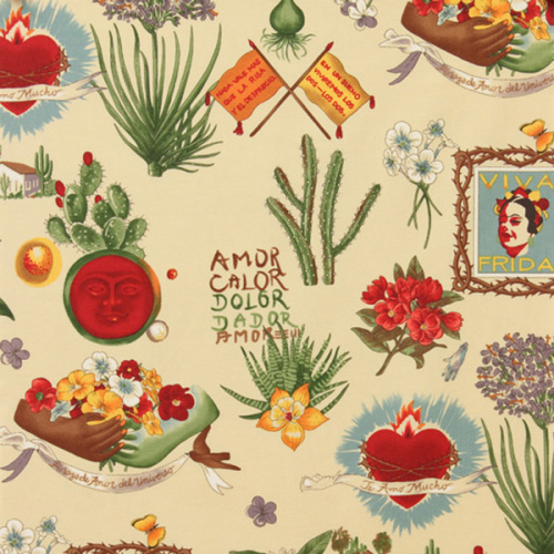 Alexander Henry VIVA FRIDA Fabric - Parchment