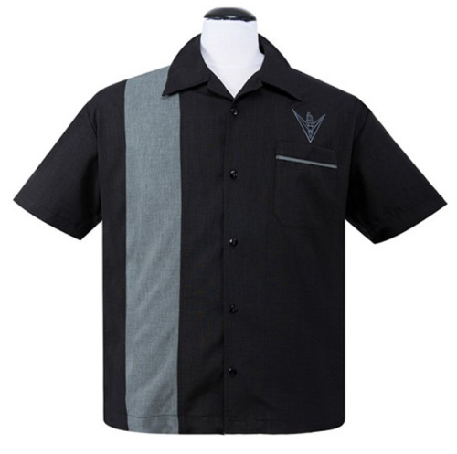 Steady Clothing V-Spark Plug Button Up Shirt - Black