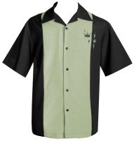 Steady Clothing Contrast Crown Button Up Shirt - Black - size XL