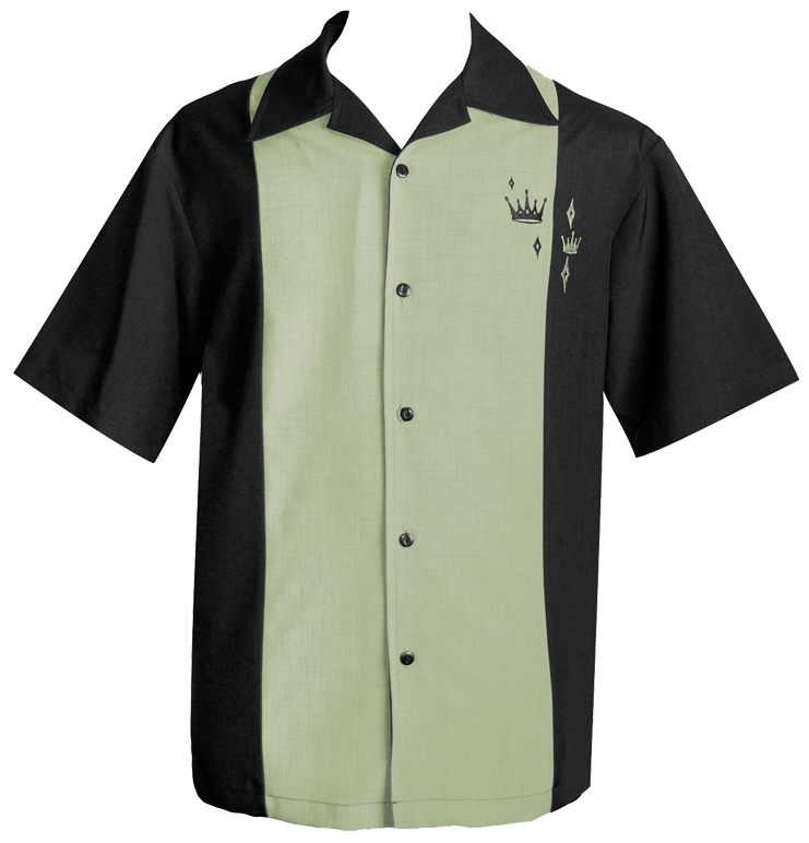Steady Clothing Contrast Crown Button Up Shirt - Black