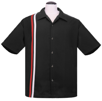 Steady Clothing V8 Racer Button Up Shirt - Black