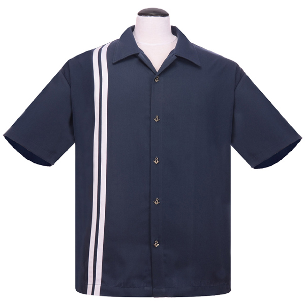 Steady Clothing V8 Racer Button Up Shirt - Navy