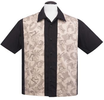 Steady Clothing Rum Tiki Panel Button Up Shirt - Black
