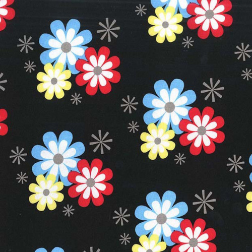 Michael Miller FLOWER FROLIC Fabric - Black