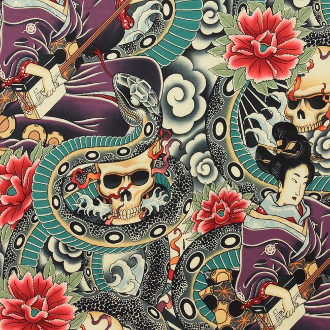 Alexander Henry ZEN CHARMER Fabric - Tea / Multi