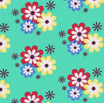 Michael Miller FLOWER FROLIC Fabric - Sprout
