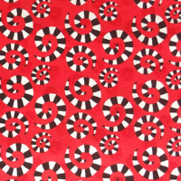 In The Beginning HOOPLA AND EVERYDAY FUN Swirls Fabric - Red