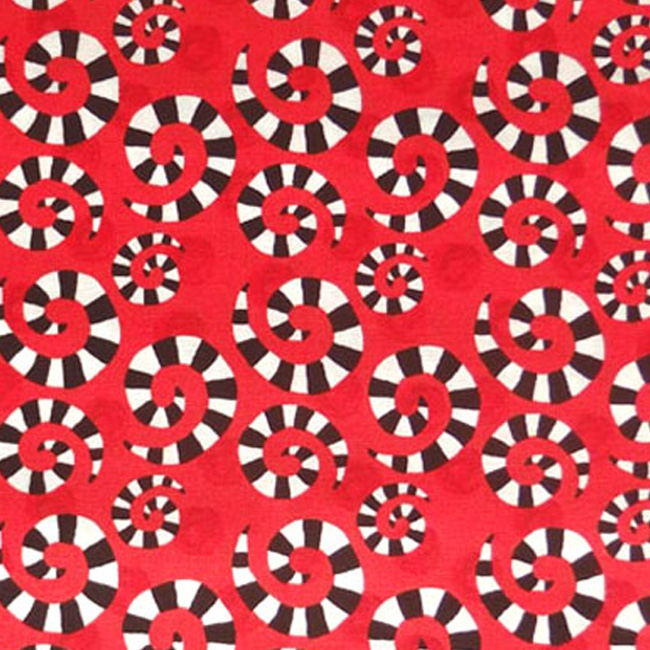 In The Beginning HOOPLA AND EVERYDAY FUN Fabric - Red