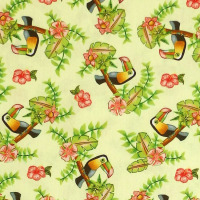 Blank Quilting PINK LADY - TOUCAN Fabric - Yellow