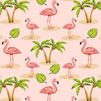Blank Quilting PINK LADY - FLAMINGO Fabric - Pink