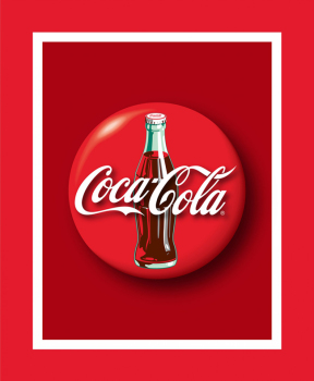 Licensed COCA-COLA Fabric - Coke Bottle Panel