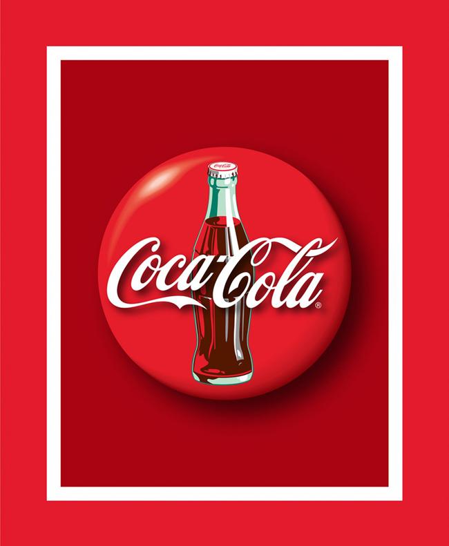 Licensed COCA-COLA Fabric - Coke Bottle Panel