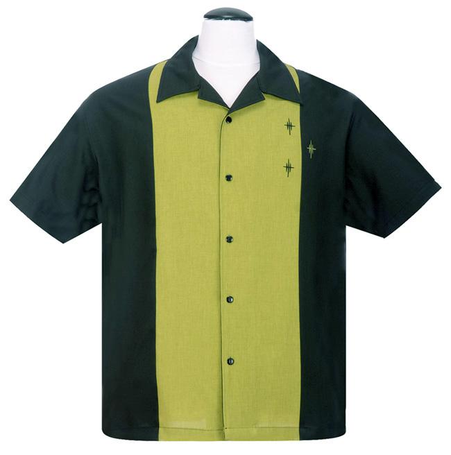 Steady Clothing Crosshatch Button Up Shirt - Black