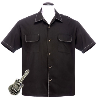 Steady Clothing Musician Button Up Shirt - Black