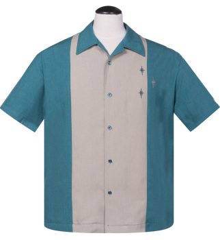 Steady Clothing Crosshatch Button Up Shirt - Teal