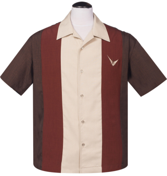 Steady Clothing Atomic Mad Men Button Up Shirt - Brown