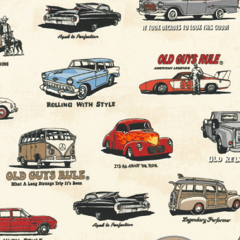 Robert Kaufman OLD GUYS RULE History Fabric - Ivory