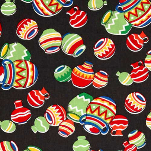 Windham SOUTH OF THE BORDER Fabric - Black