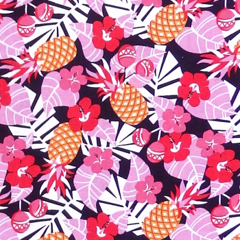 Michael Miller Cuban Beat RHUMBA Fabric - Tropical Pink