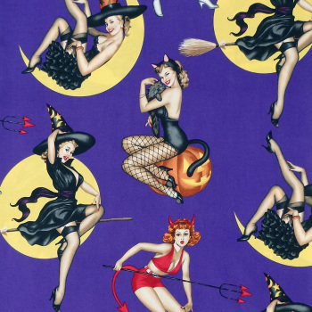 Alexander Henry BEWITCHED Fabric - Purple