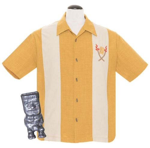 Steady Clothing Tropical Itch Button Up Shirt - Mustard