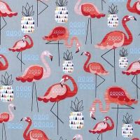 Nutex FLAMINGO Fabric - Grey