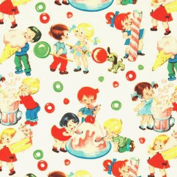 Michael Miller CANDY SHOP Fabric - Cream