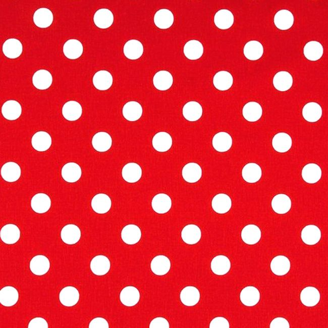 Sevenberry 7mm POLKA DOT Fabric - Red