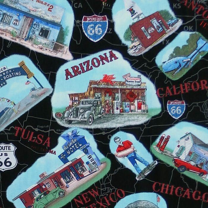 Blank Quilting AMERICAN DREAM Fabric - Landmarks