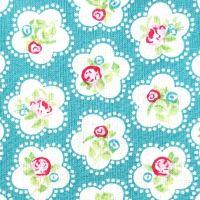 Chatham Glyn DAINTY FLOWERS Fabric - Teal
