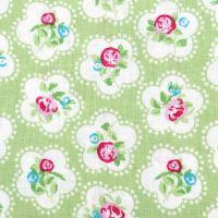 Chatham Glyn DAINTY FLOWERS Fabric - Lime