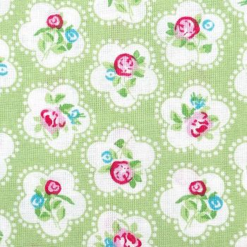 Chatham Glyn DAINTY FLOWERS Fabric - Lime