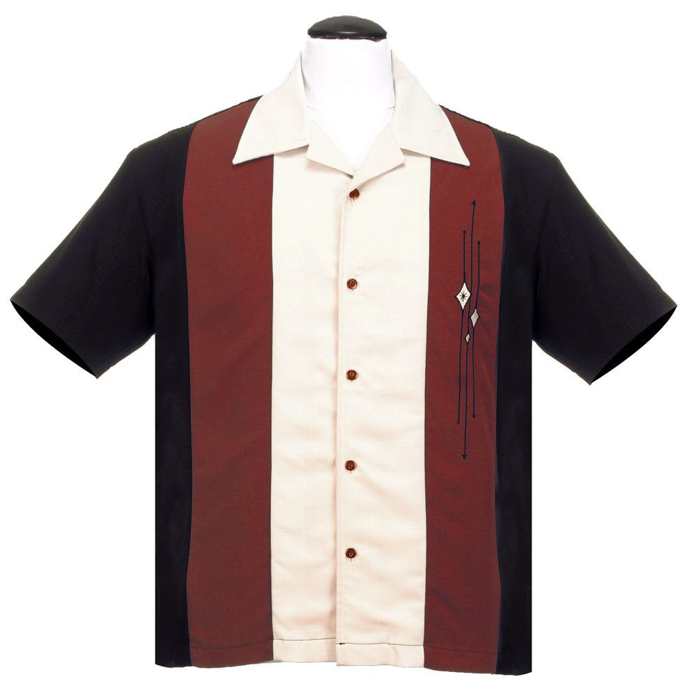 Steady Clothing Trinity Button Up Shirt - Black / Rust