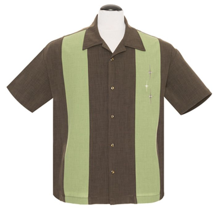 Steady Clothing Three Star Panel Button Up Shirt - Coffee