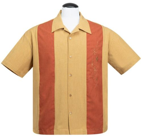 Steady Clothing Mid Century Marvel Button Up Shirt - Mustard