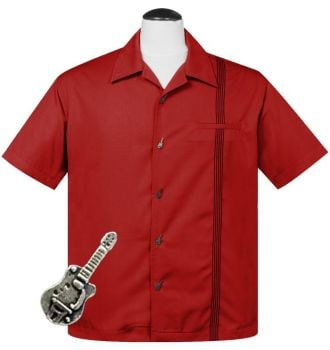 Steady Clothing Six String Button Shirt - Red