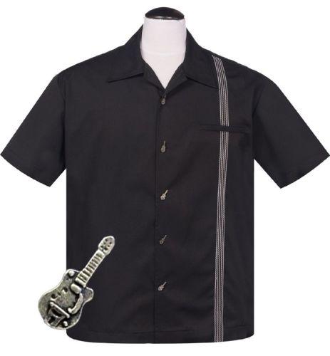 Steady Clothing Six String Button Shirt - Black