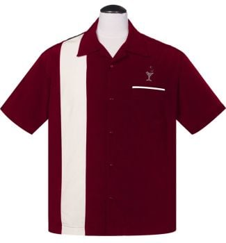 Steady Clothing Cocktail Lounge Button Up Shirt - Burgundy