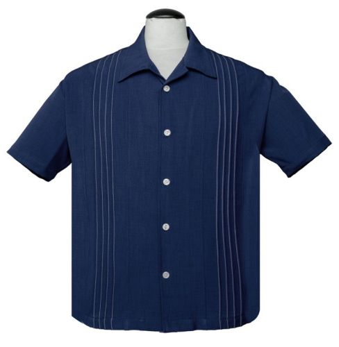 Steady Clothing Otis Button Up Shirt - Navy