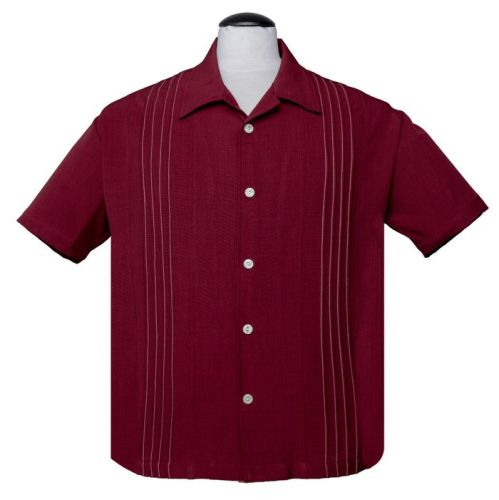 Steady Clothing Otis Button Up Shirt - Ruby