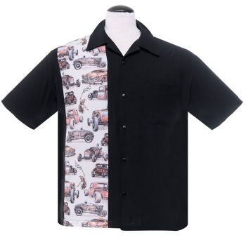 Steady Clothing Dragstrip Button Up Shirt - Black