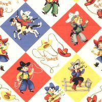 Michael Miller RETRO YIPPEE Fabric - Cream