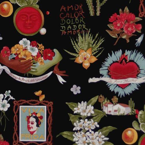 Alexander Henry VIVA FRIDA Fabric - Black