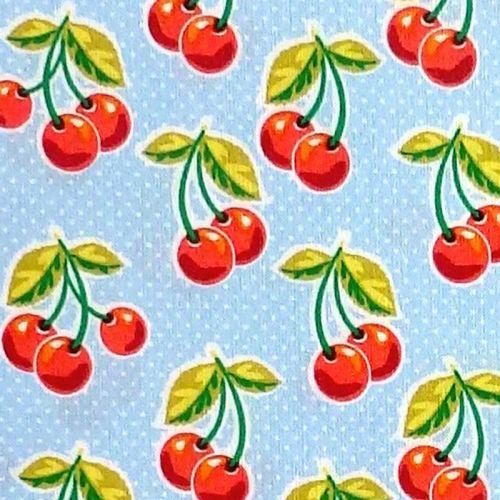 Waverley Inspirations CHERRY Fabric - Powder Blue